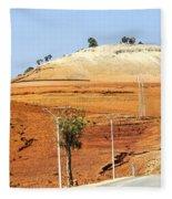 Morocco Landscape I Fleece Blanket