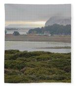 Morro Rock From The Elfin Forest Fleece Blanket