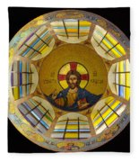 Mosaic Christ Fleece Blanket