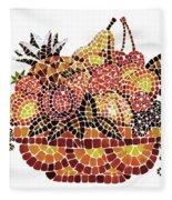 Mosaic Fruits Fleece Blanket
