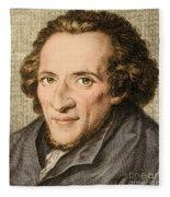 Moses Mendelssohn, German Philosopher Fleece Blanket