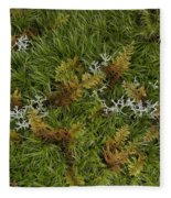 Moss And Lichen Fleece Blanket