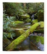 Moss Flourishing Fleece Blanket