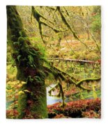 Mossy Bend Fleece Blanket