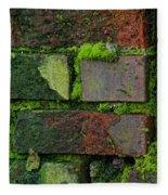 Mossy Brick Wall Fleece Blanket