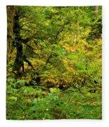 Mossy Rainforest Fleece Blanket