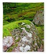 Mossy Rock Garden Fleece Blanket