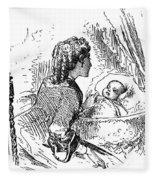 Mother And Child, 1873 Fleece Blanket
