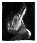 Mother And Child Fleece Blanket