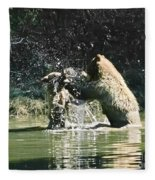 Mother And Cub  Fleece Blanket