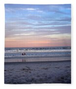 Mother And Daughter Beach Time Fleece Blanket