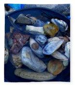 Mother Earth Stones Reloeding Fullmoon Energy In Ice Cold Water Fleece Blanket