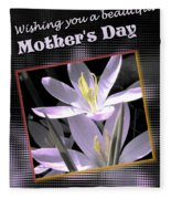 Mothers Day Wish Fleece Blanket