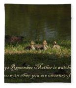 Mother's Watchful Eye Fleece Blanket