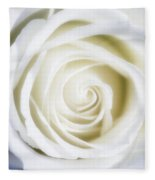 Mother's White Rose Fleece Blanket