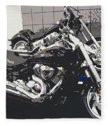 Motorcycle Ride - Five Fleece Blanket