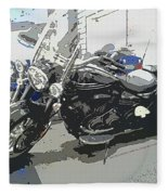 Motorcycle Ride - Three Fleece Blanket