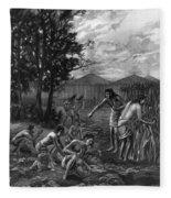 Mound Builders: Farming Fleece Blanket