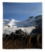 Mount Athabasca From The Columbia Icefields Fleece Blanket