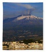 Mount Etna Fleece Blanket