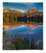 Mount Lassen Reflecting 2 Fleece Blanket