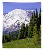 Mount Rainier X Fleece Blanket