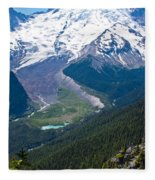 Mount Rainier Xi Fleece Blanket