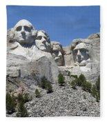 Mount Rushmore Vertical Fleece Blanket