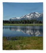 Mount Tallac View Of The Cross Fleece Blanket