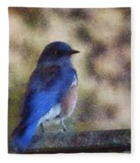 Mountain Bluebird Painterly Fleece Blanket