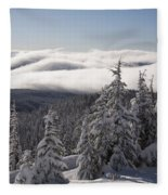 Mountain During Winter Fleece Blanket