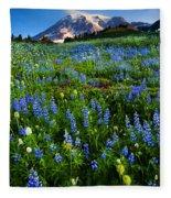 Mountain Garden Fleece Blanket