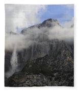 Mountain In The Clouds Fleece Blanket