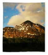Mountain In The Morning Fleece Blanket