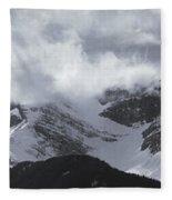 Mountain Panoramic In Winter, Spray Fleece Blanket