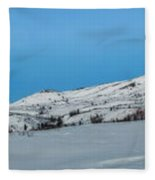 Mountain Range Along The Dempster Highway Fleece Blanket