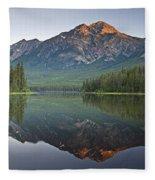 Mountain Reflection, Pyramid Mountain Fleece Blanket