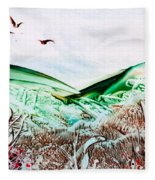 Mountain Scene Fleece Blanket