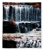 Mountain Stream Waterfall Fleece Blanket