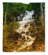 Mountain Waterfall Fleece Blanket