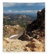Mountains At Lassen Fleece Blanket