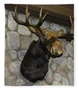 Mounted Moose Fleece Blanket