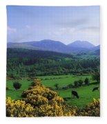 Mourne Mountains, Co Down, Ireland Fleece Blanket