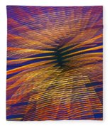 Moving Abstract Lights Fleece Blanket