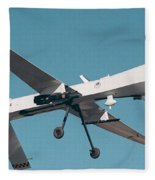 Mq-1 Predator Drone Fleece Blanket