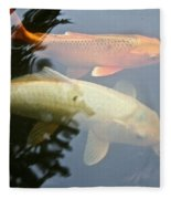 Mr And Mrs Koi Fleece Blanket