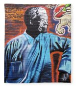 Mr. Nelson Mandela Fleece Blanket