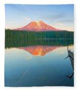 Mt. Adams Alpenglow Fleece Blanket
