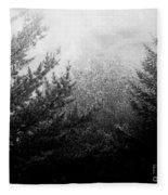 Mt Desert Fog Fleece Blanket