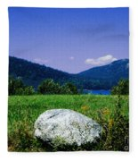 Mt Desert Island Maine Fleece Blanket